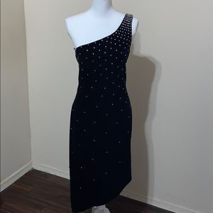 JS Boutique velvet dress with rhinestones